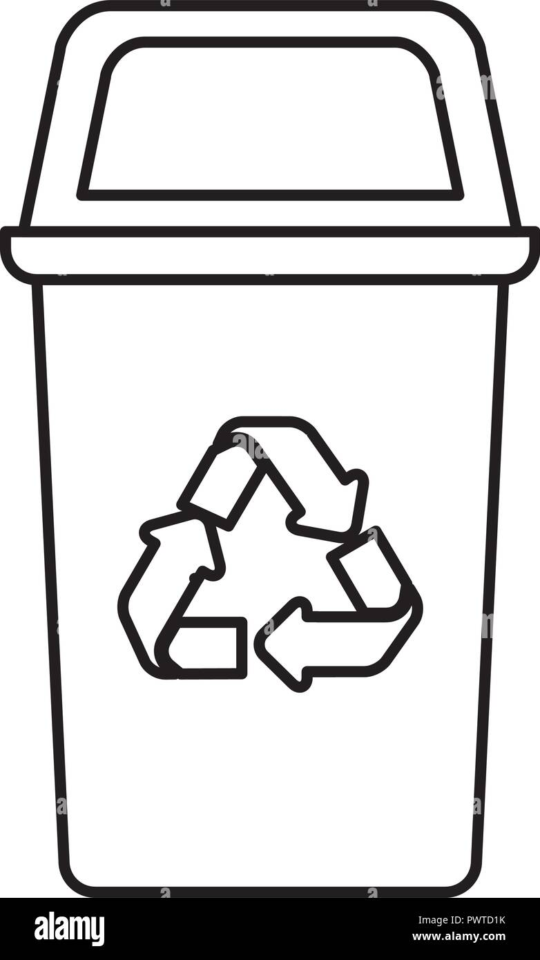recycling basket avatar character - Stock Vector