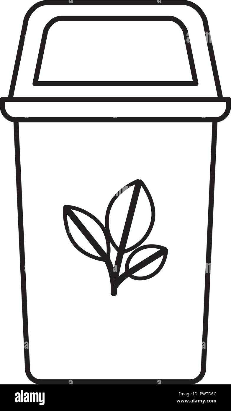 recycling basket isolated icon - Stock Vector