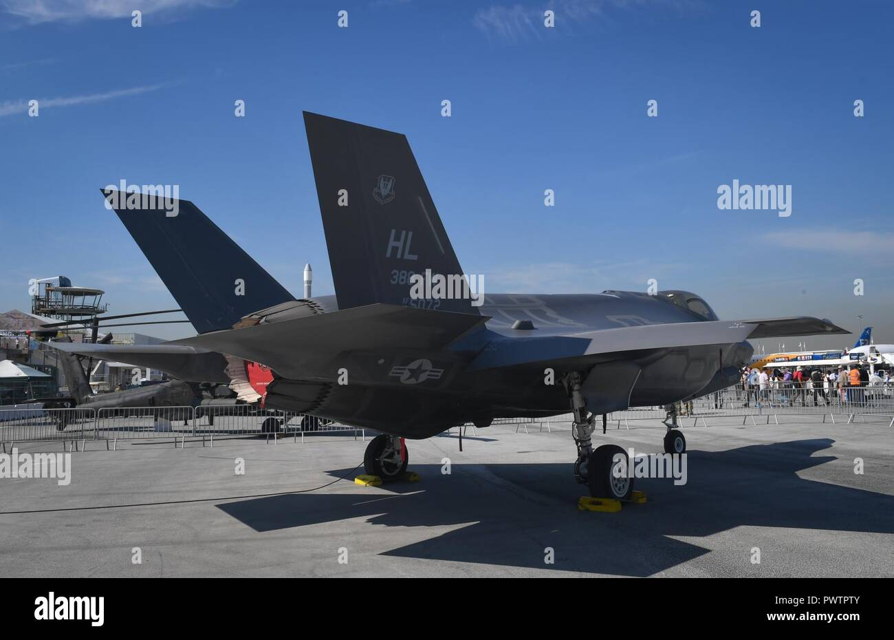An F-35A Lightning II from Hill Air Force Base, Utah, is
