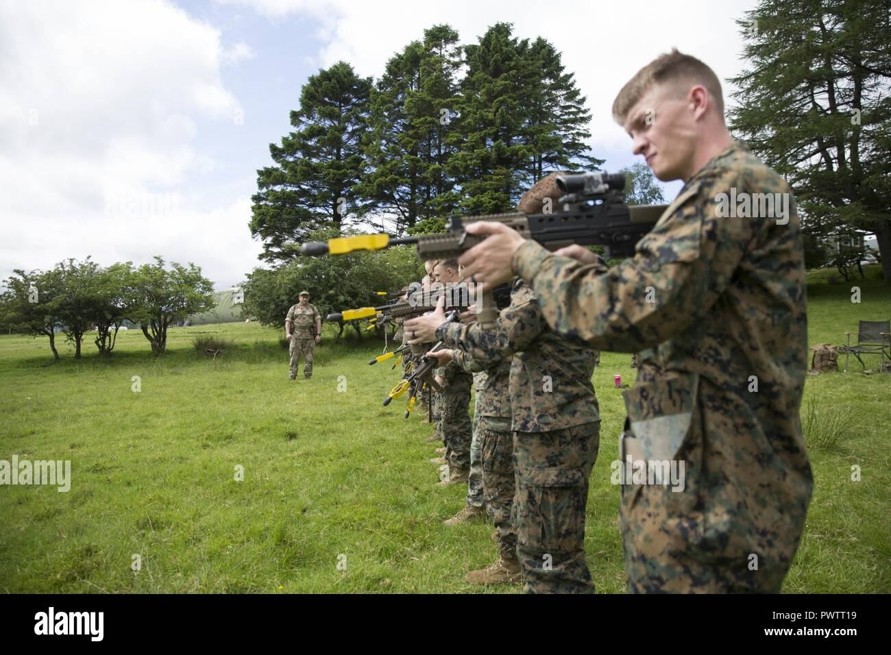 US Marines Sight In During Exercise Phoenix Odyssey 17 At Garelochhead Training Camp Scotland June 18 2017 A Two Week Evolution