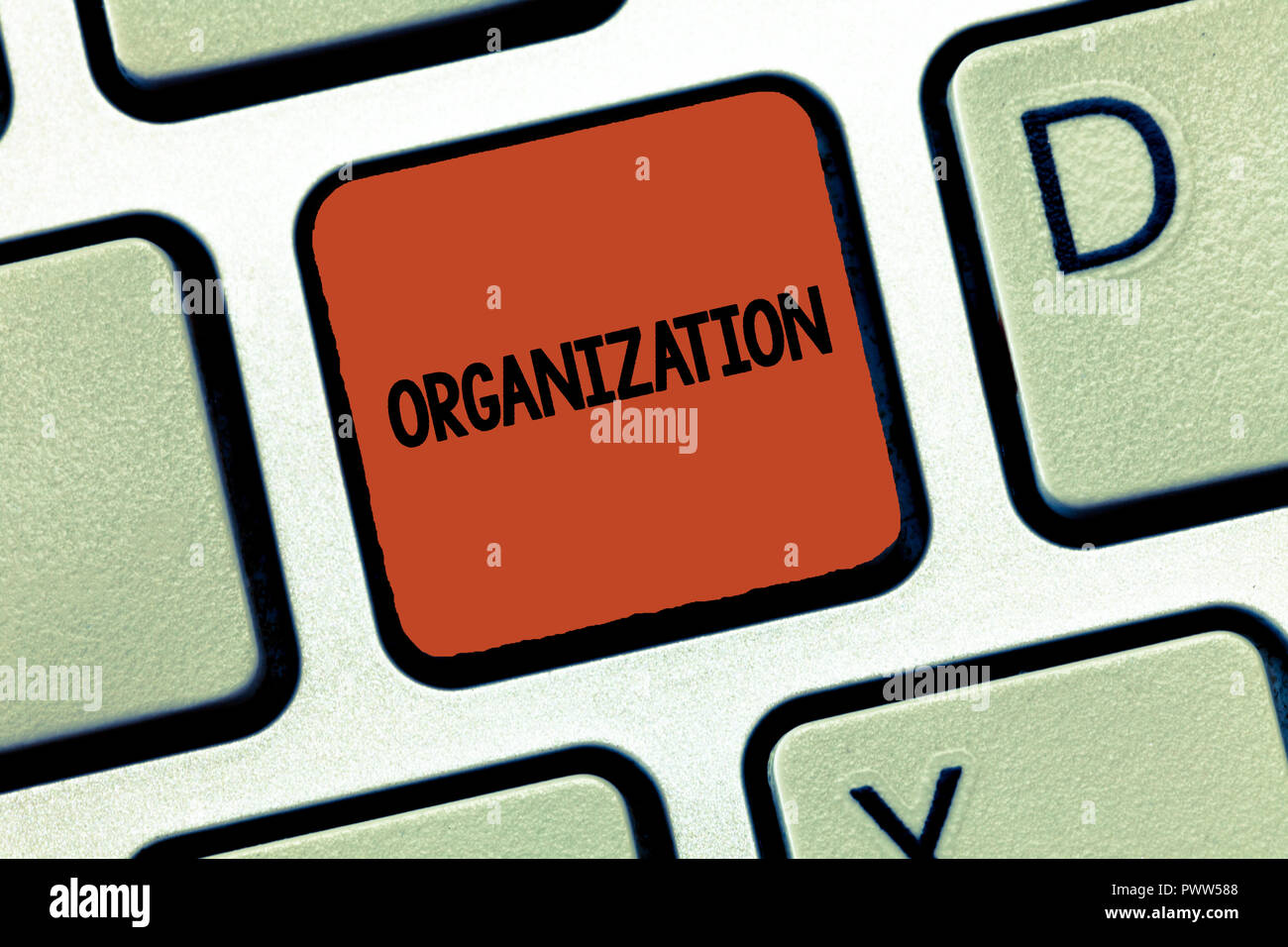 Handwriting text Organization. Concept meaning Organized group of showing with a particular purpose Business. - Stock Image