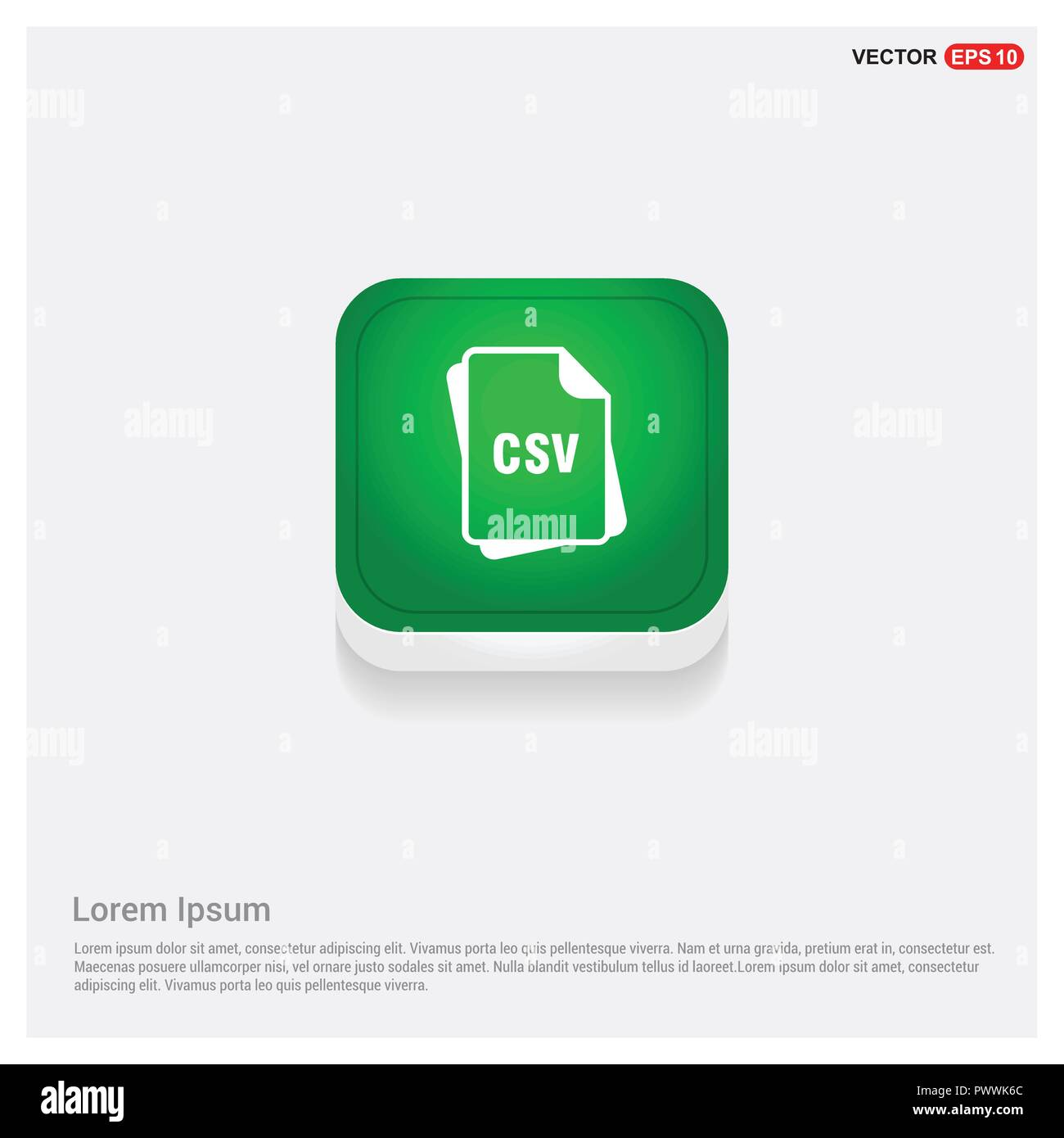 File Format Icon Green Web On Free Vector Stock