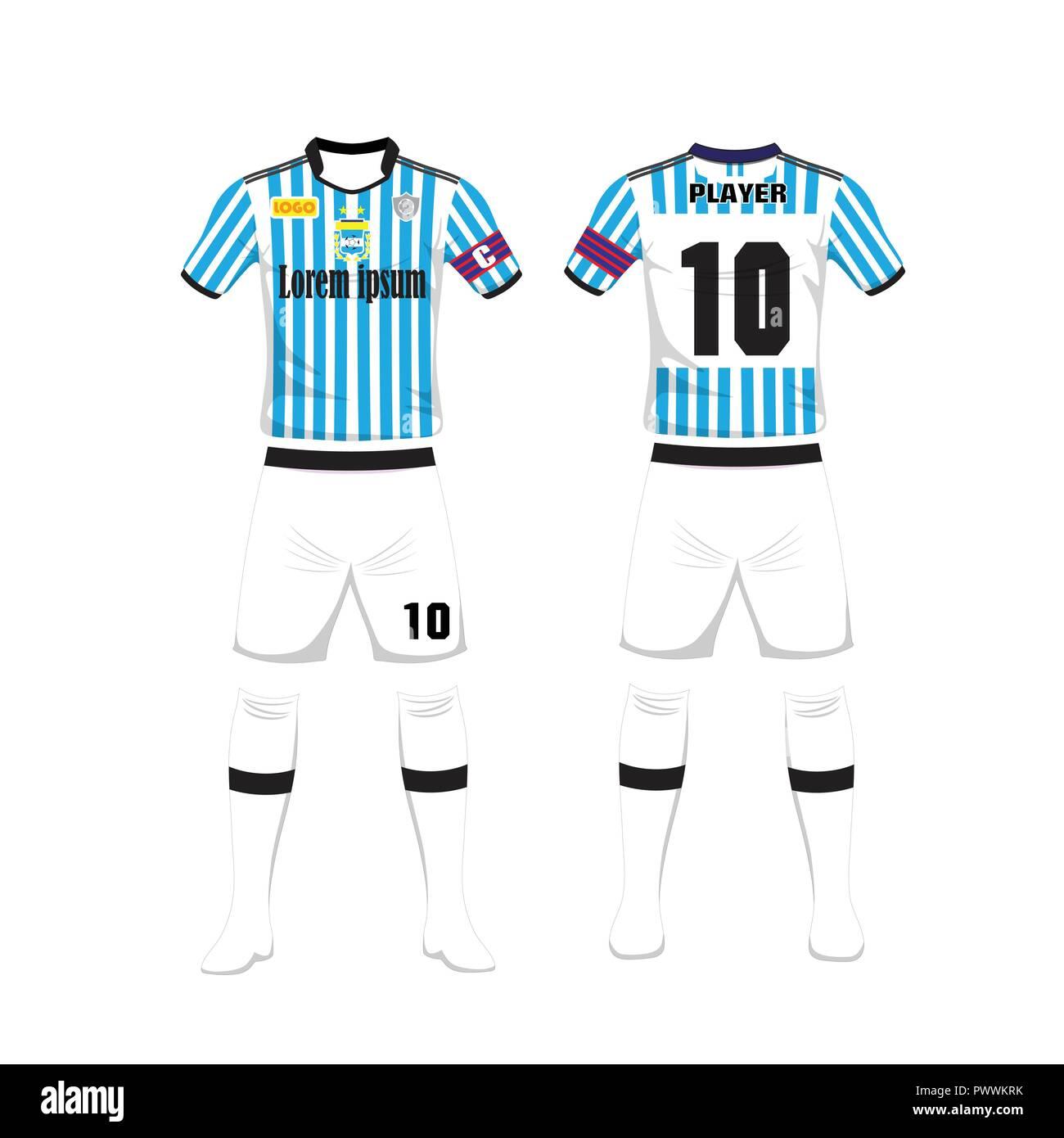 uniform of football argentina sport design template sport uniform in