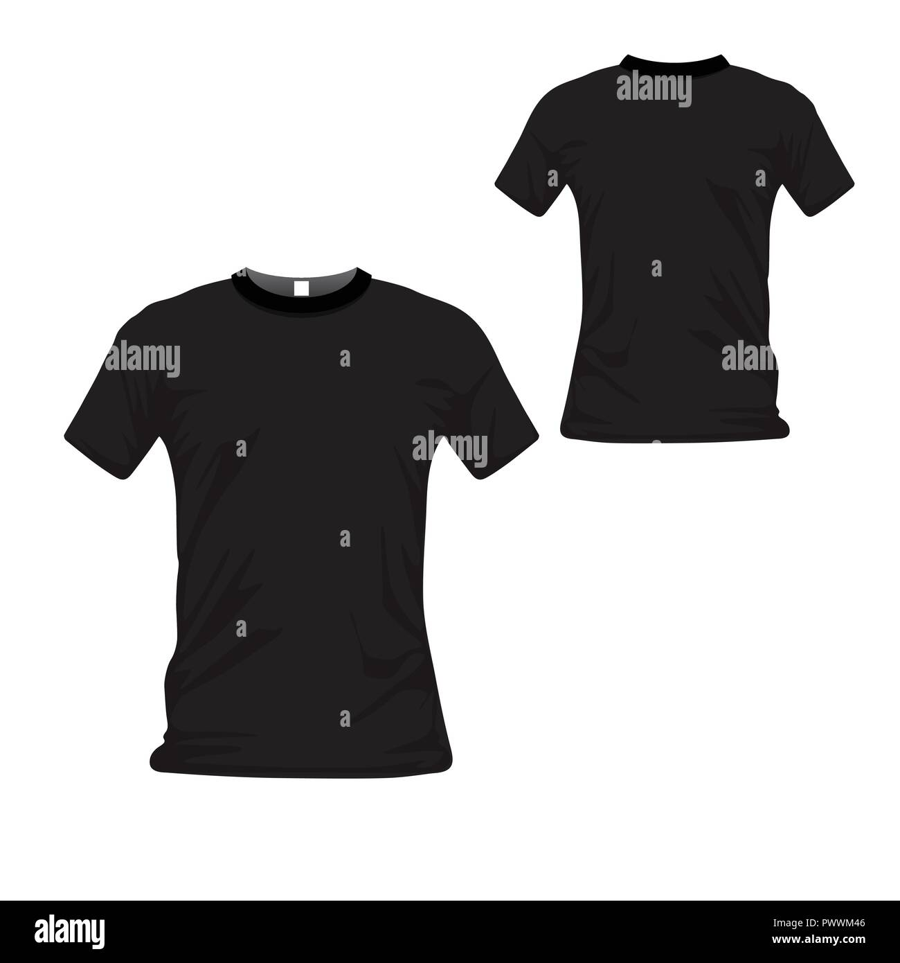 T Shirt Uniform Front And Back View T Shirt Polo Templates Design