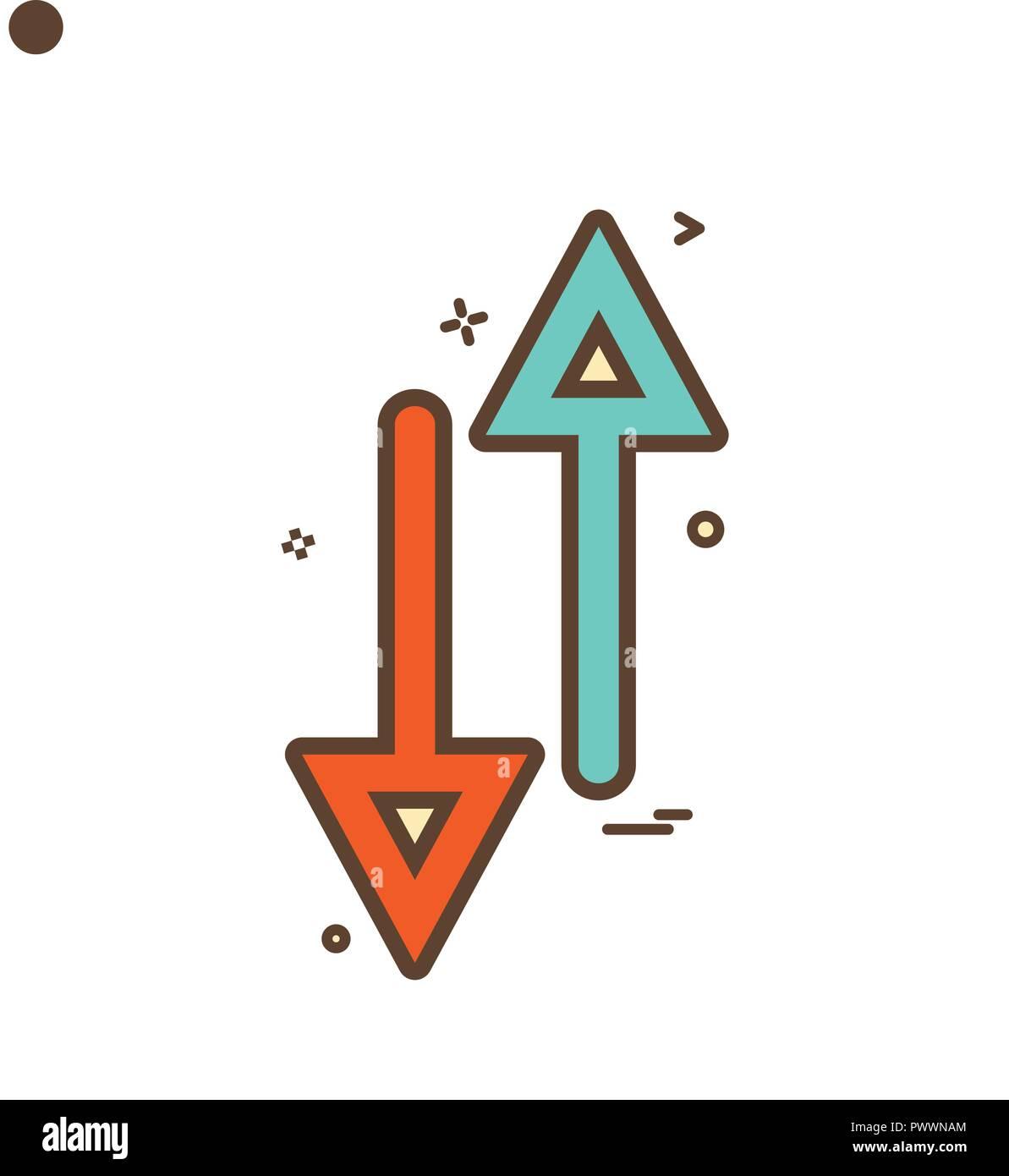 arrow up down way icon vector design Stock Vector Art