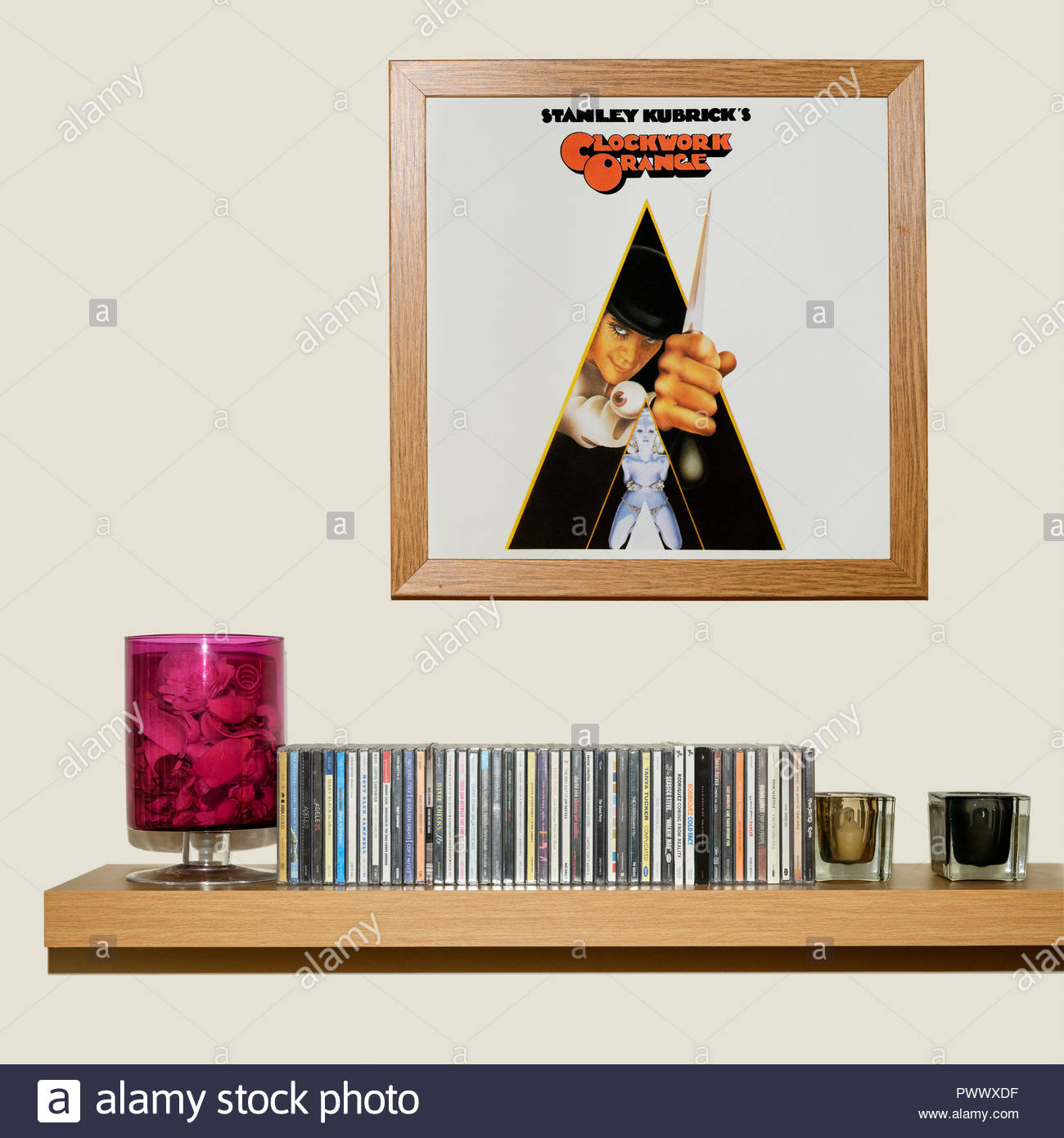 CD Collection and framed Sound track from the film A Clockwork ...