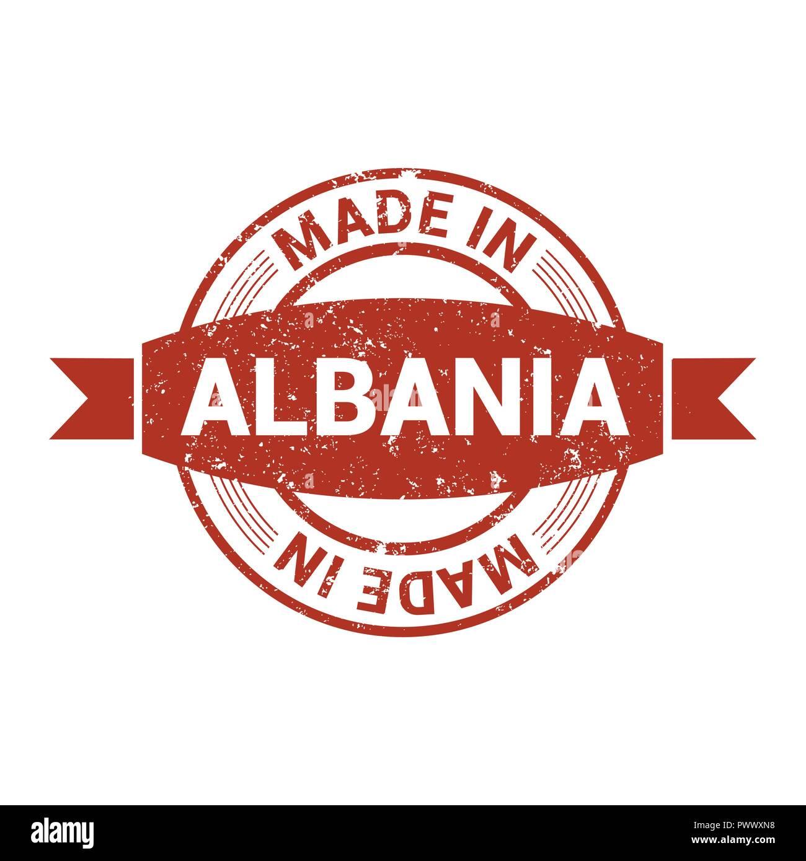 Albania stamp design vector - Stock Image