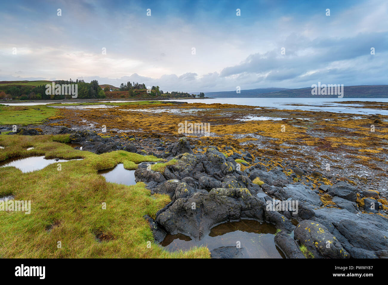 Aros near Tobemory on the Isle of Mull in Scotland - Stock Image