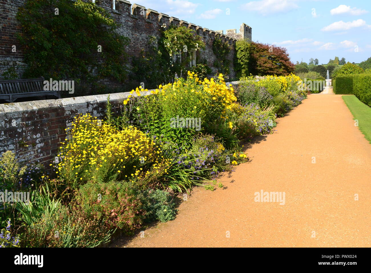 Penshurst Place gardens, Tonbridge, Kent, England, UK in summer 2017 - Stock Image
