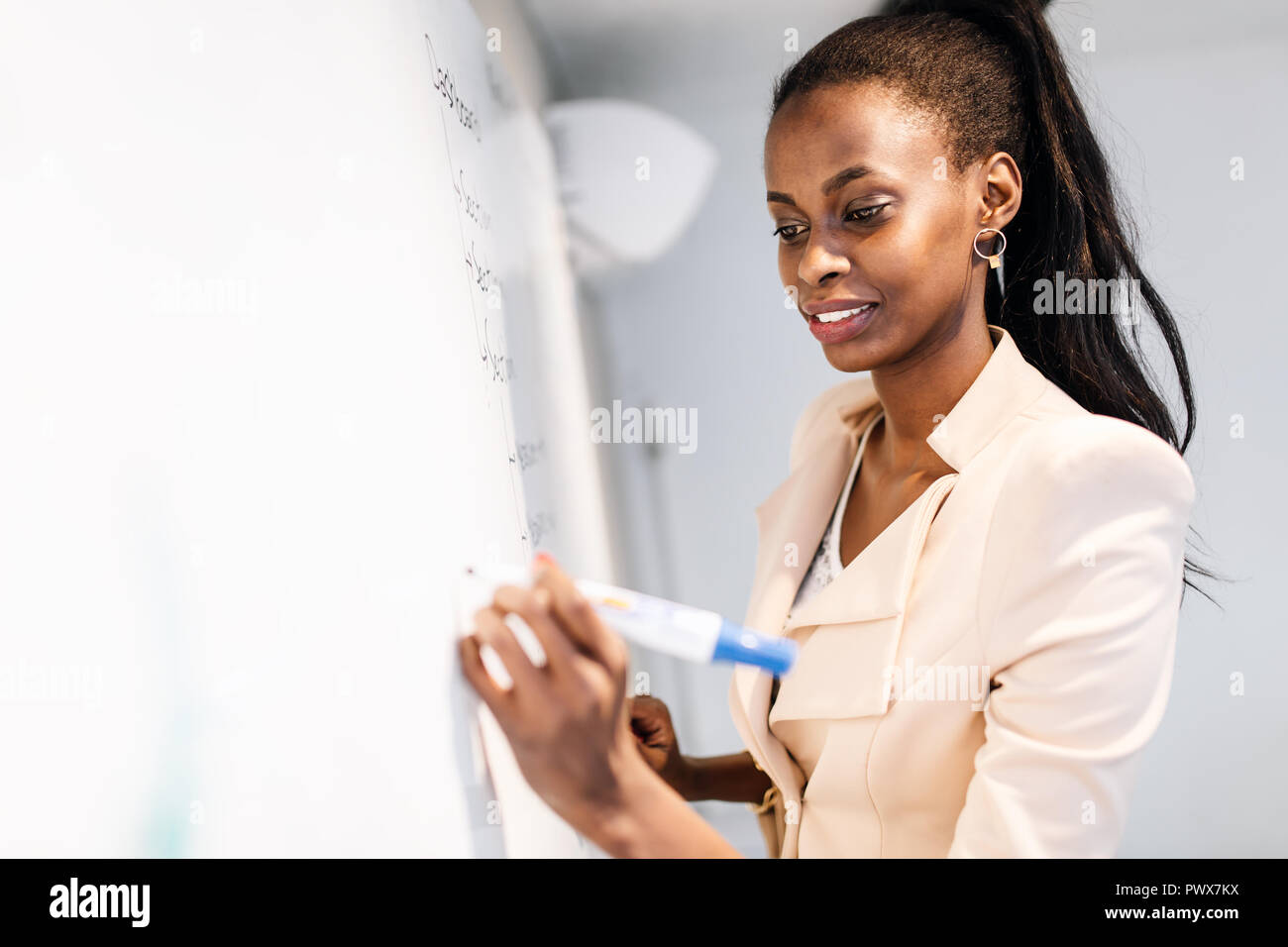 Coming up with new ideas - Stock Image