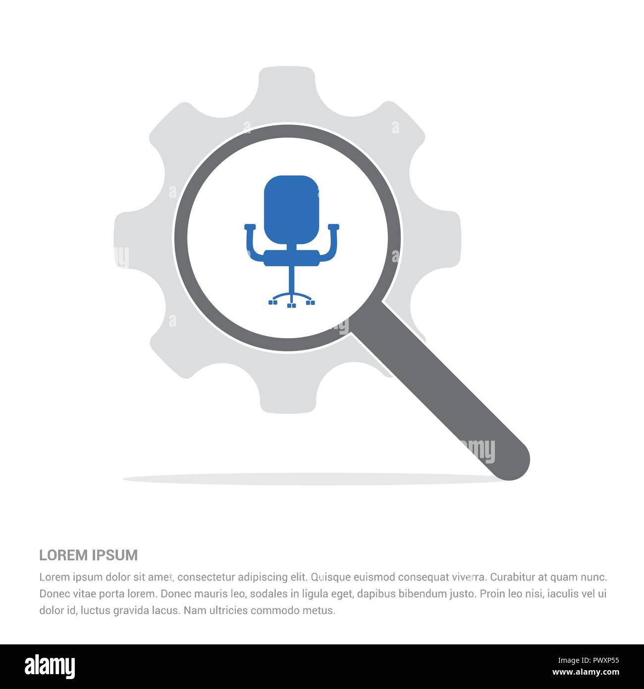 office chair icon free vector icon stock vector art illustration rh alamy com Icon Office Chair No Backgroujd Office Chair Symbol
