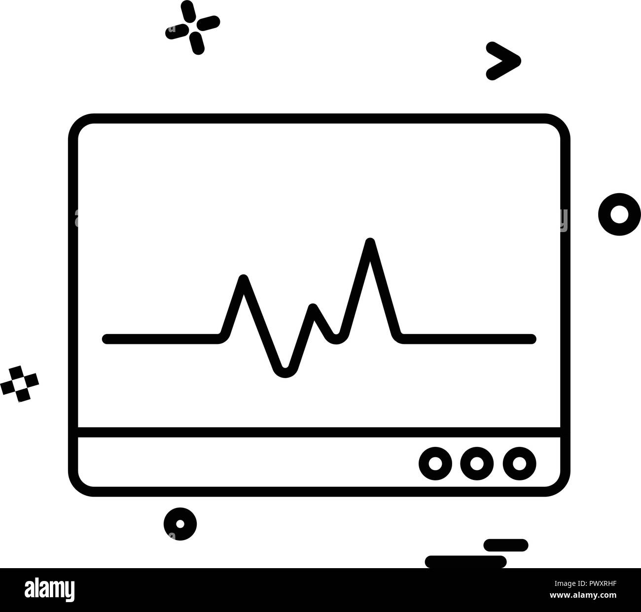Heart Rate Line Black And White Stock Photos Images Alamy Monitor Schematic Lcd Monitoring Icon Vector Desige Image