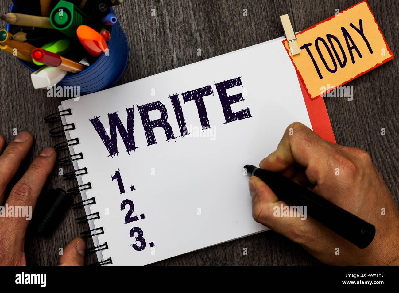 Handwriting text Write  Concept meaning mark letters words