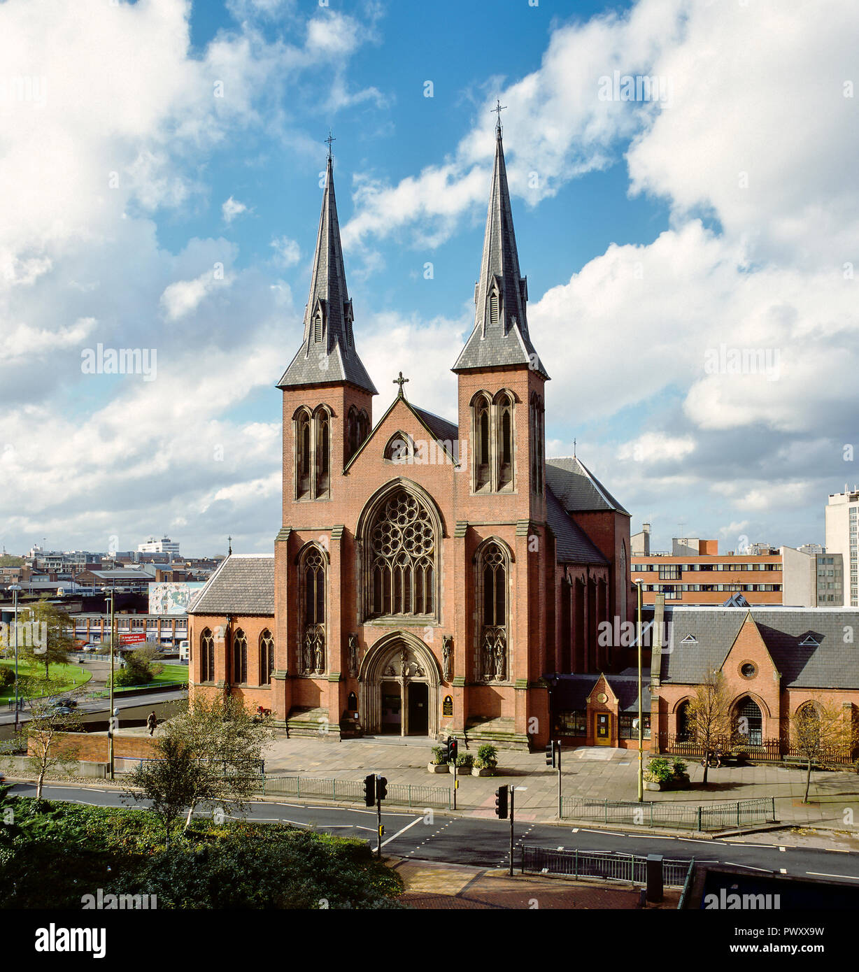 St Chad's Cathedral, Birmingham, UK. Built in 1841 by A.W. Pugin, it was the first Roman Catholic cathedral built in England since the Reformation - Stock Image