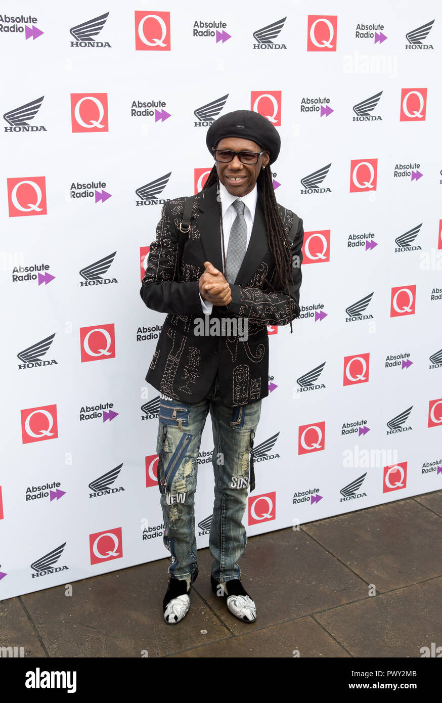 London, UK. 17th Oct 2018. The Round House Chalk Farm  London Uk 17th Oct 2018 Nile Rodgers arrives at the Q Awards 2018  in Association with Absolute Radio People In Picture: Nile Rodgers Credit: Dean Fardell/Alamy Live News - Stock Image