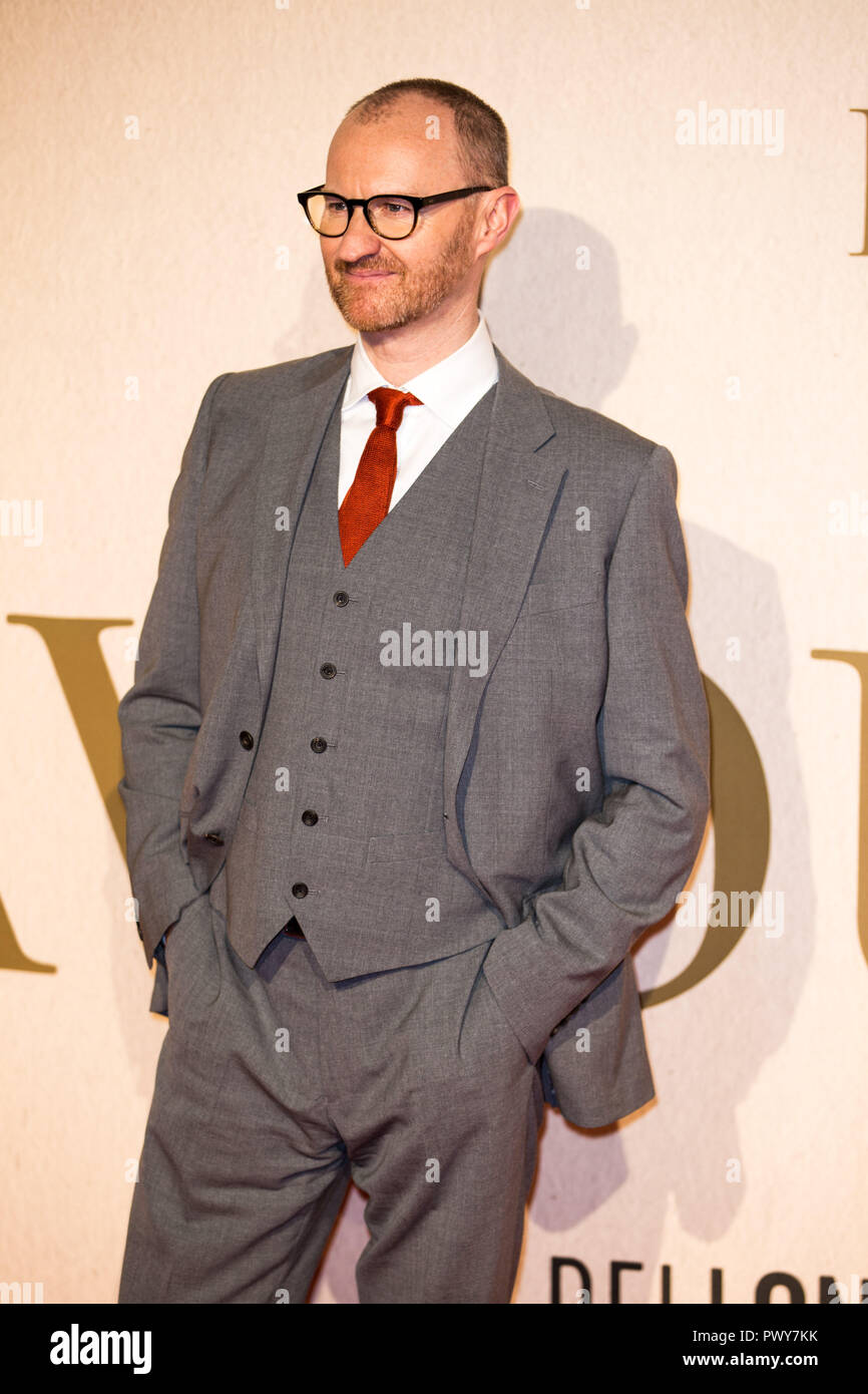 London, UK. 18th Oct, 2018. Mark Gatiss at The Favourite UK Premiere at the BFI London Film Festival American Express Gala on 18th October 2018 at BFI Southbank - London Credit: Tom Rose/Alamy Live News - Stock Image