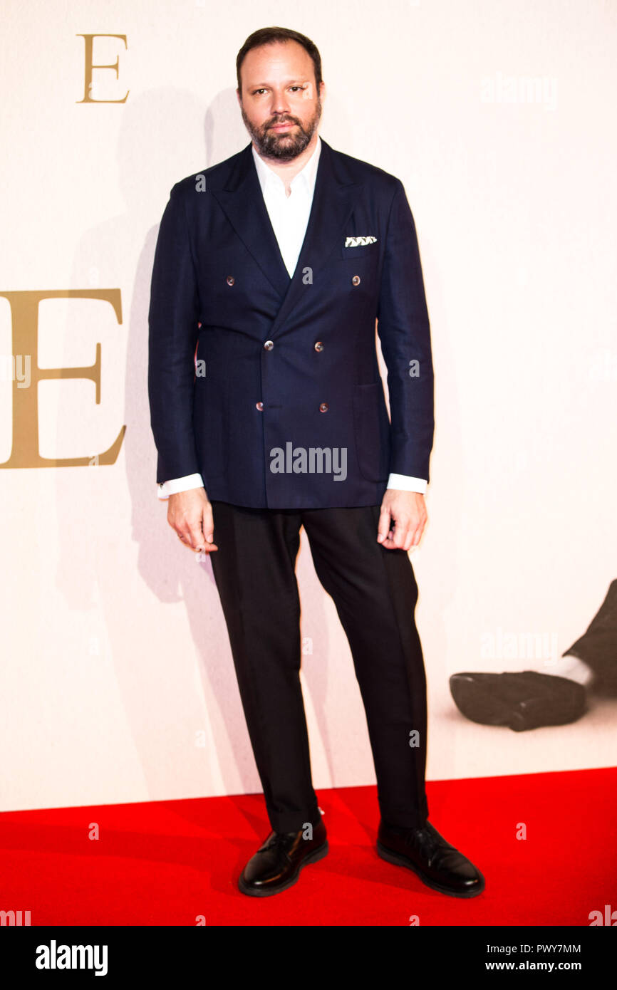 London, UK. 18th Oct, 2018. Yorgos Lanthimos at The Favourite UK Premiere at the BFI London Film Festival American Express Gala on 18th October 2018 at BFI Southbank - London Credit: Tom Rose/Alamy Live News - Stock Image