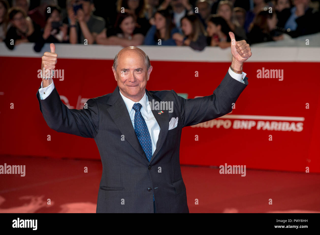 Rome, Italy. 18th October, 2018. The United States Ambassador to Italy Lewis M. Eisenberg attending the red carpet during the 13th Rome Film Fest Credit: Silvia Gerbino/Alamy Live News Stock Photo