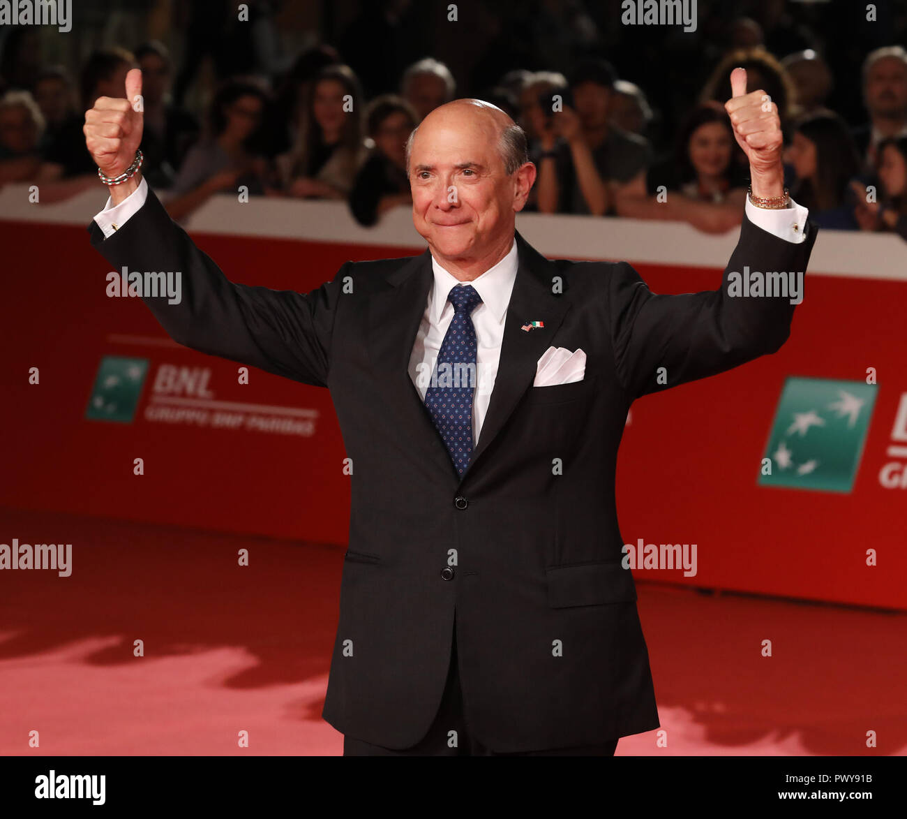 """Rome, Italy. 18th Oct, 2018. Roma Cinema Fest 2018. Rome Film Festival. Red carpet film """"7 unknown to El Royale"""". Pictured: Lewis Eisenberg Credit: Independent Photo Agency/Alamy Live News Stock Photo"""