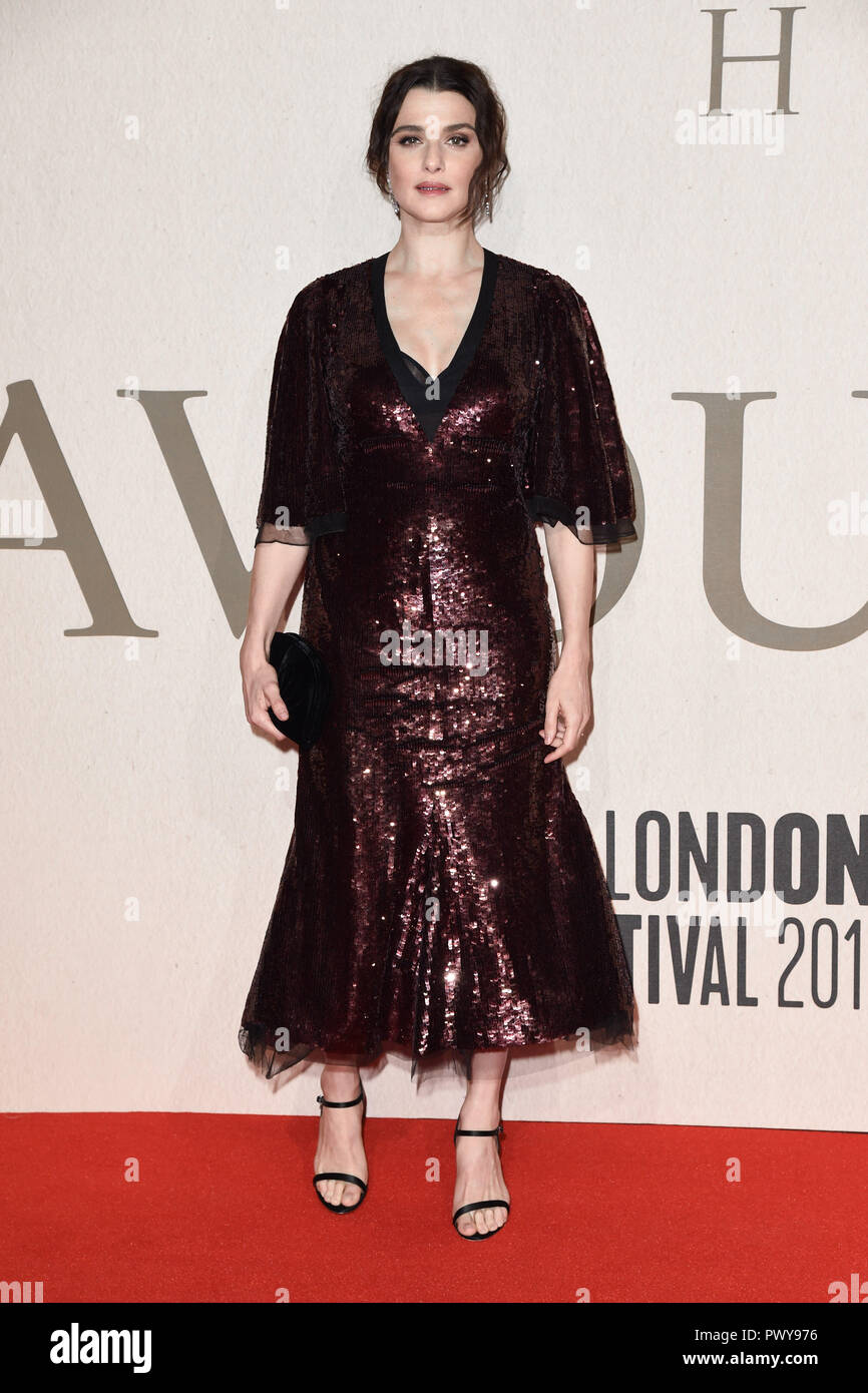 LONDON, UK. October 18, 2018: Rachel Weisz at the London Film Festival screening of 'The Favourite' at the BFI South Bank, London. Picture: Steve Vas/Featureflash Credit: Paul Smith/Alamy Live News - Stock Image