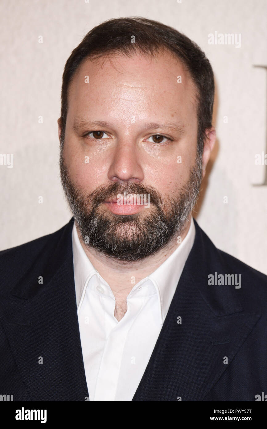 LONDON, UK. October 18, 2018: Yorgos Lanthimos at the London Film Festival screening of 'The Favourite' at the BFI South Bank, London. Picture: Steve Vas/Featureflash Credit: Paul Smith/Alamy Live News - Stock Image