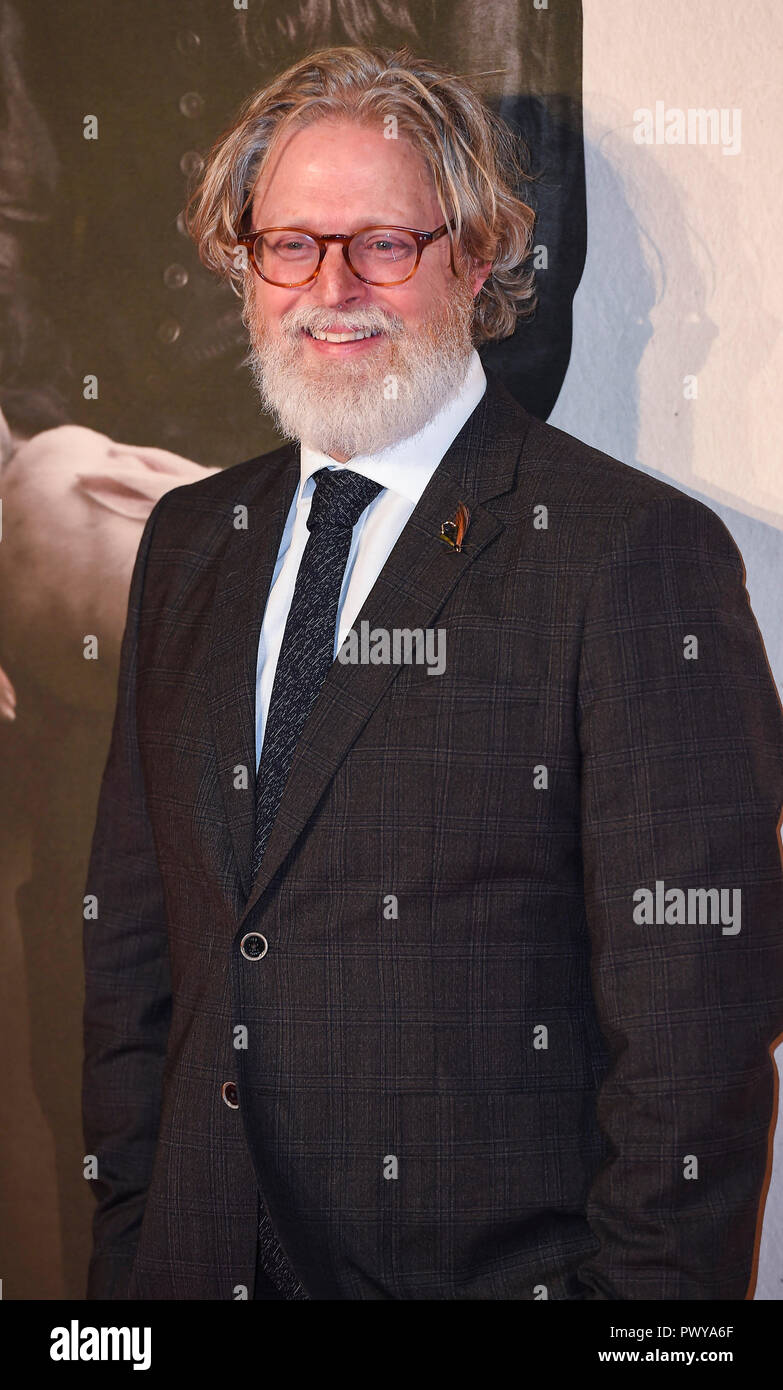 Tony McNamara attends the UK Premiere of 'The Favourite' & American Express Gala at the 62nd BFI London Film Festival. - Stock Image