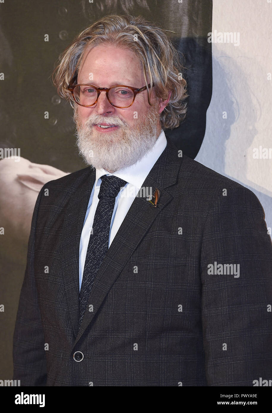London, UK. 18th Oct, 2018. Tony McNamara attends the UK Premiere of 'The Favourite' & American Express Gala at the 62nd BFI London Film Festival. Credit: Gary Mitchell/SOPA Images/ZUMA Wire/Alamy Live News - Stock Image