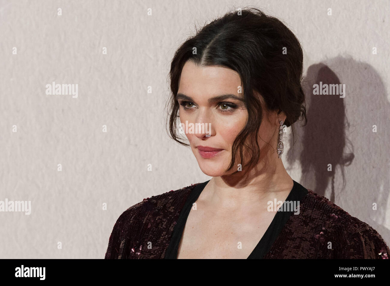 LONDON, UNITED KINGDOM - OCTOBER 18:  Rachel Weisz attends the UK film premiere of 'The Favourite' at BFI Southbank during the 62nd London Film Festival American Express Gala. October 18, 2018 in London, United Kingdom. Stock Photo