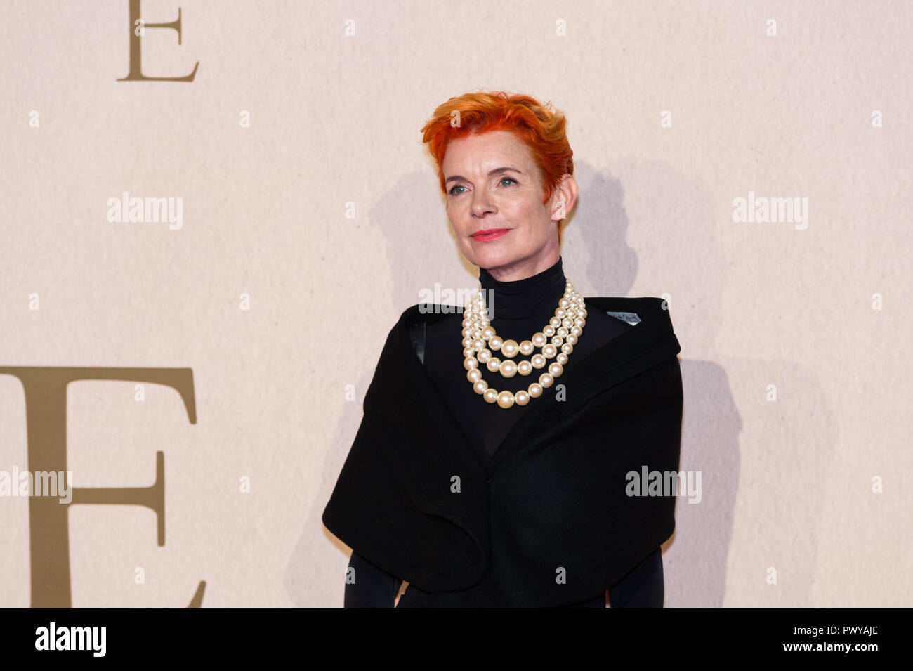 London, UK. 18th October 2018. Sandy Powell attends the UK film premiere of 'The Favourite' at BFI Southbank during the 62nd London Film Festival American Express Gala. Credit: Wiktor Szymanowicz/Alamy Live News - Stock Image