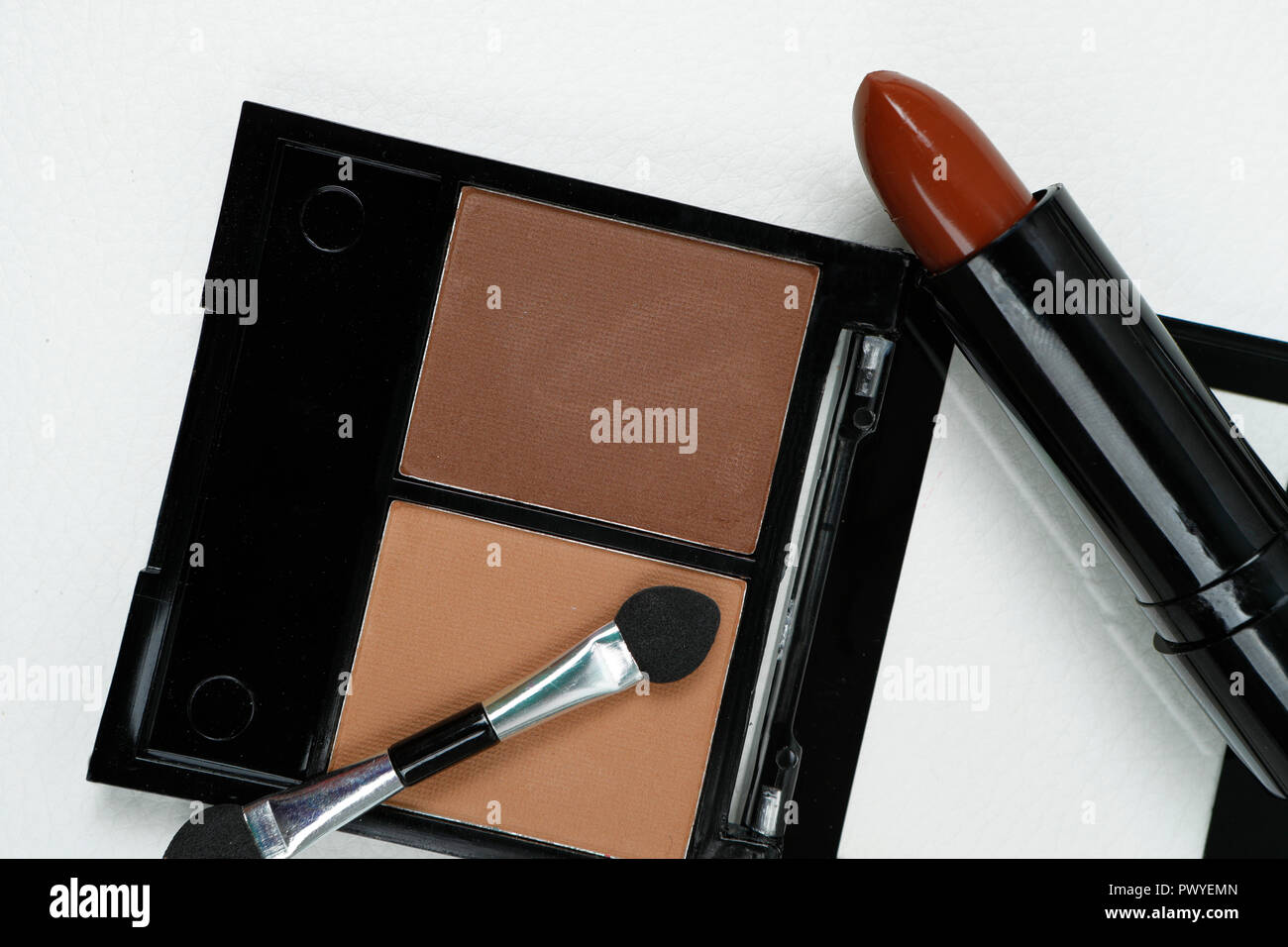 Makeup products. Still life. Beauty. Editorial illustration - Stock Image