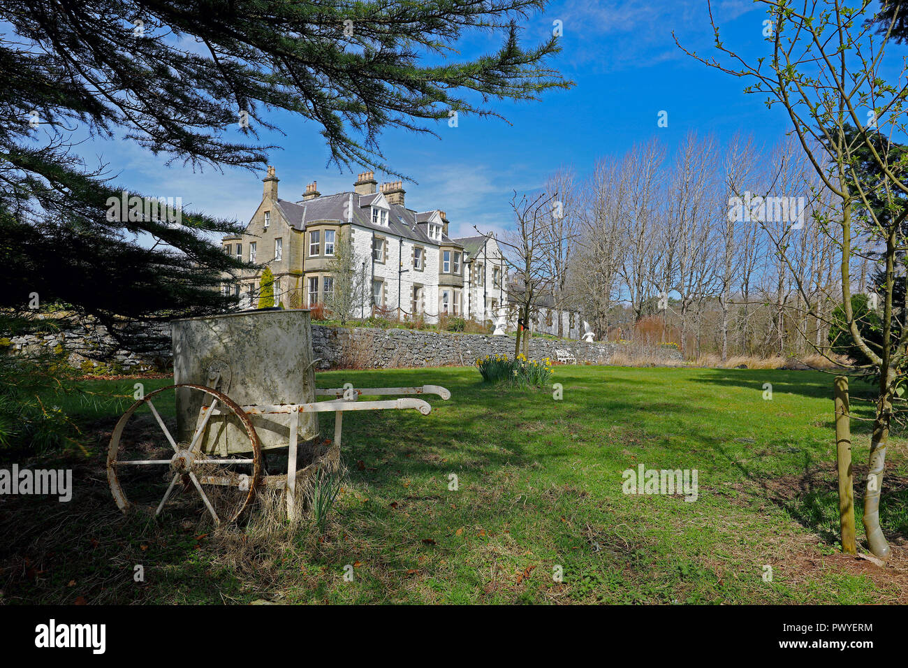 Scottish Country houses. Rathburne House. - Stock Image