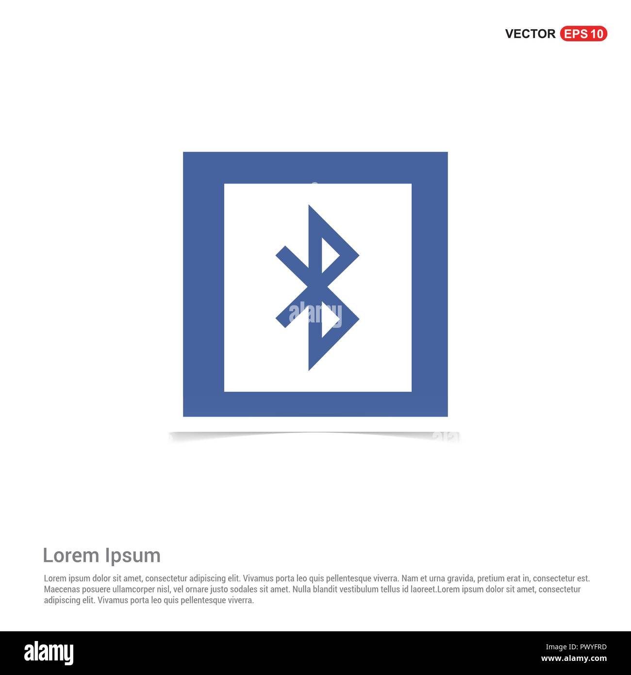 Bluetooth connection icon - Blue photo Frame Stock Vector Art ...