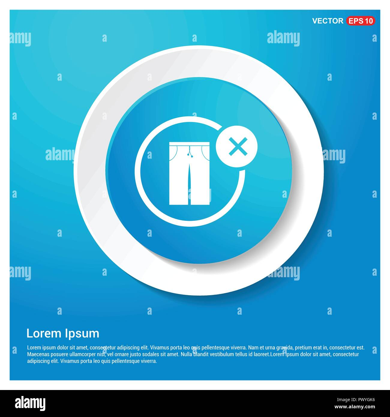 Allow Button no trousers allow icon abstract blue web sticker button