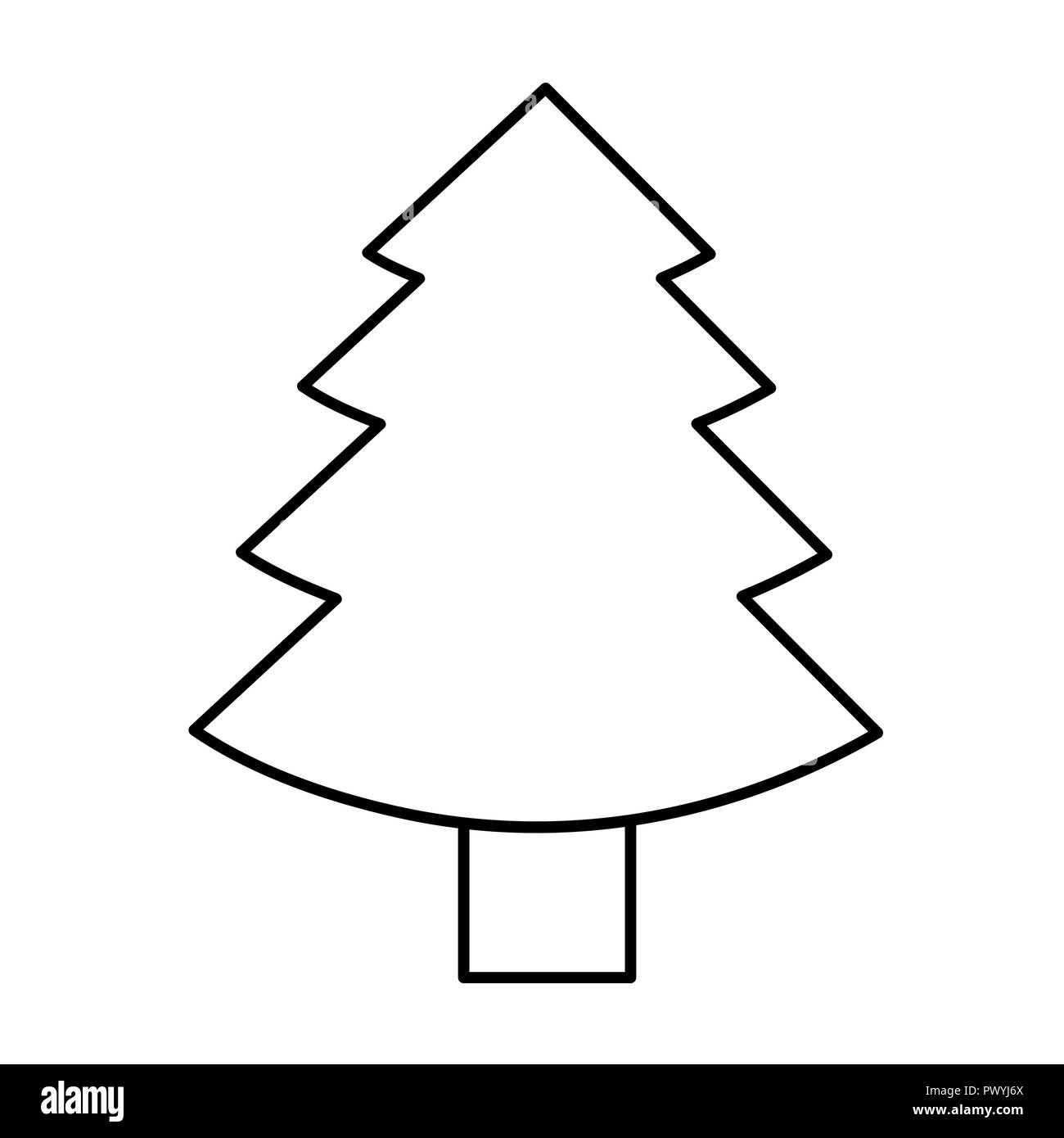 Christmas Tree Fir Simple Icon Pictogram Outline Vector Illustration Stock Vector Image Art Alamy