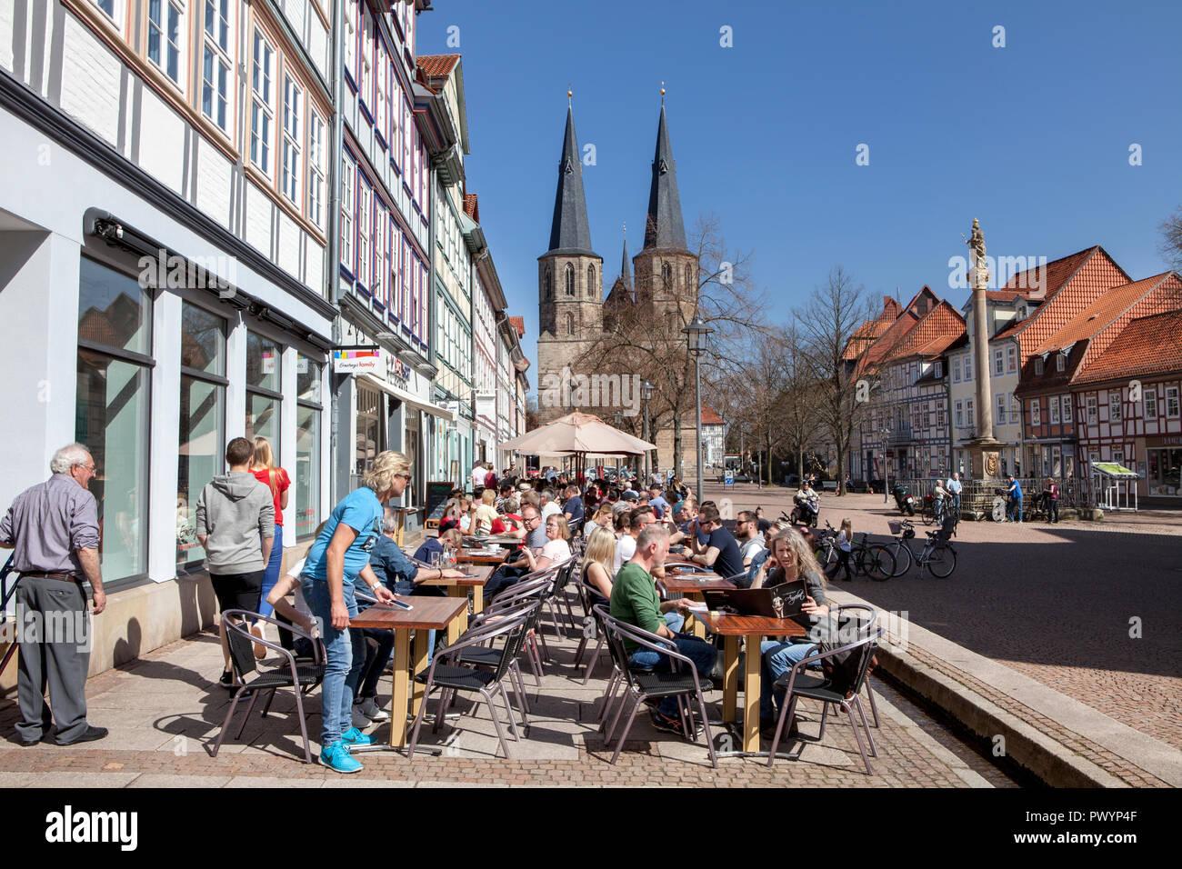 Market street, Duderstadt, Lower Saxony, Germany, Europe - Stock Image