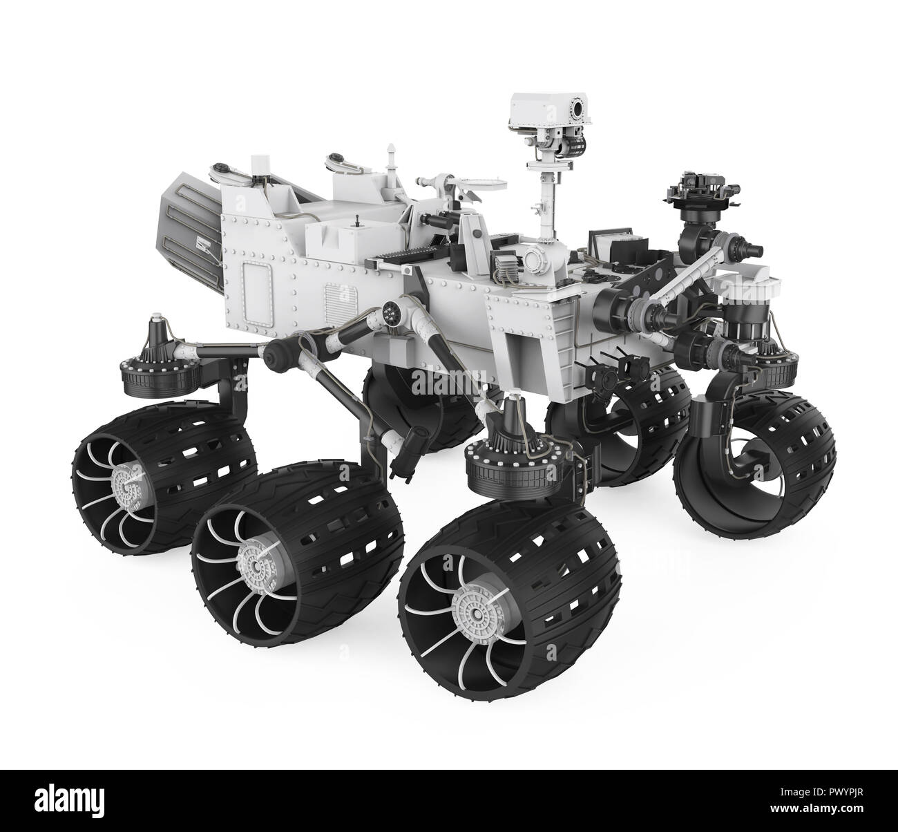 Curiosity Rover Isolated - Stock Image