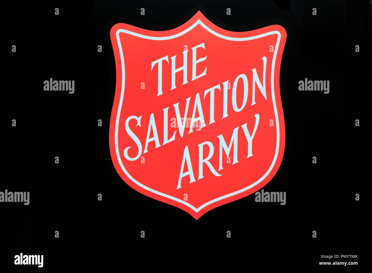 The Salvation Army, logo, badge, England, UK - Stock Image