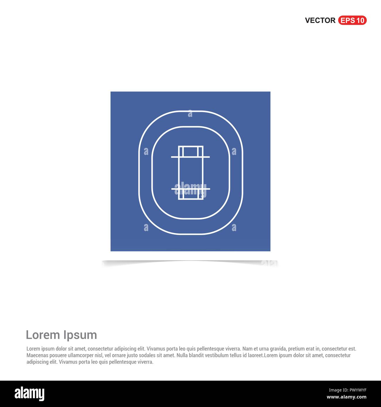 cricket stadium icon - blue photo frame