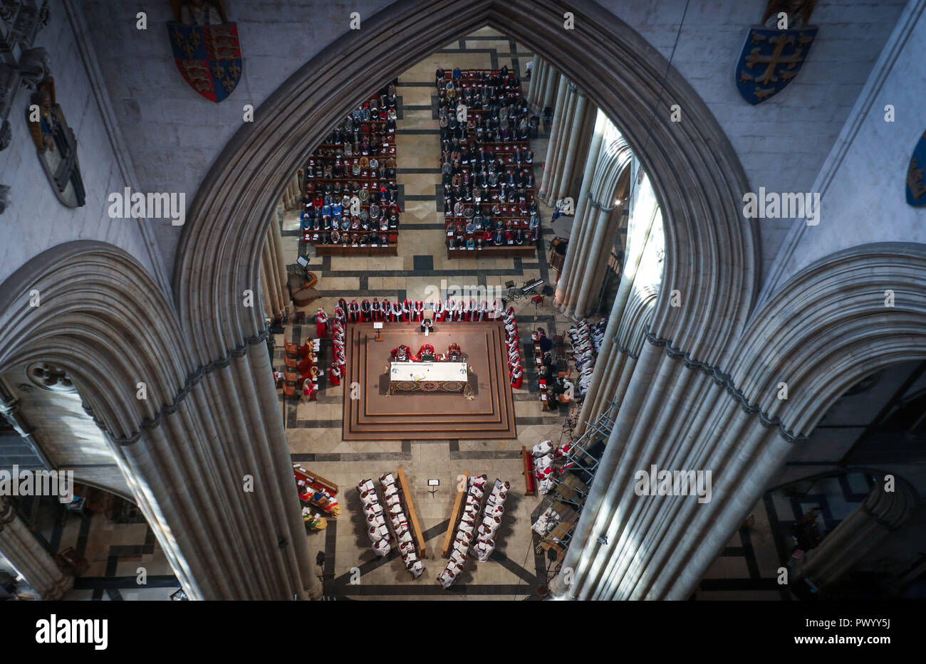 The Diocese of Liverpool at York Minster, where the Venerable Beverley Anne Mason is consecrated as the next Suffragan Bishop of Warrington. - Stock Image