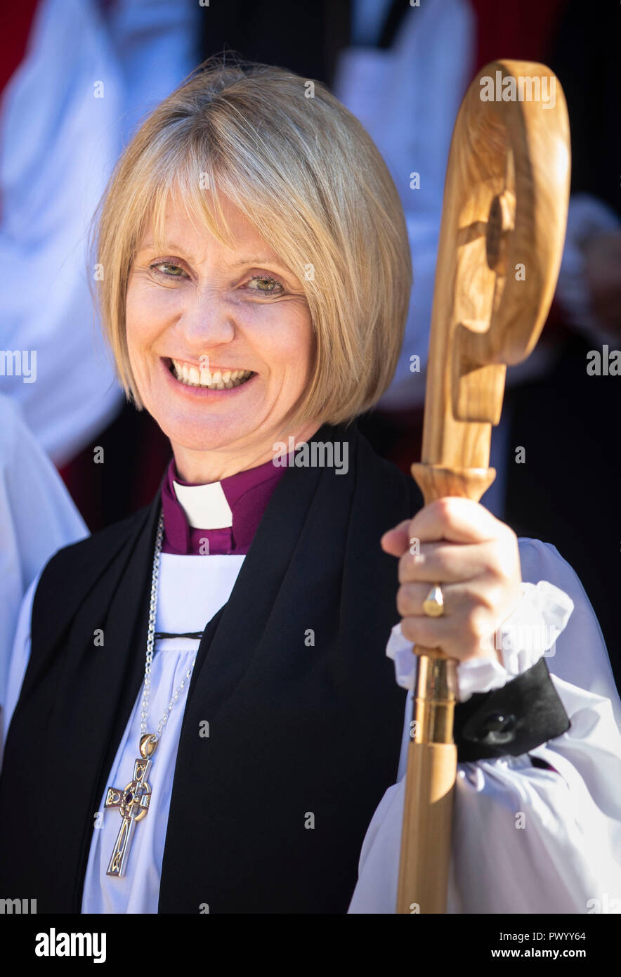 The Venerable Beverley Anne Mason following her consecration as the next Suffragan Bishop of Warrington, at the Diocese of Liverpool at York Minster. - Stock Image