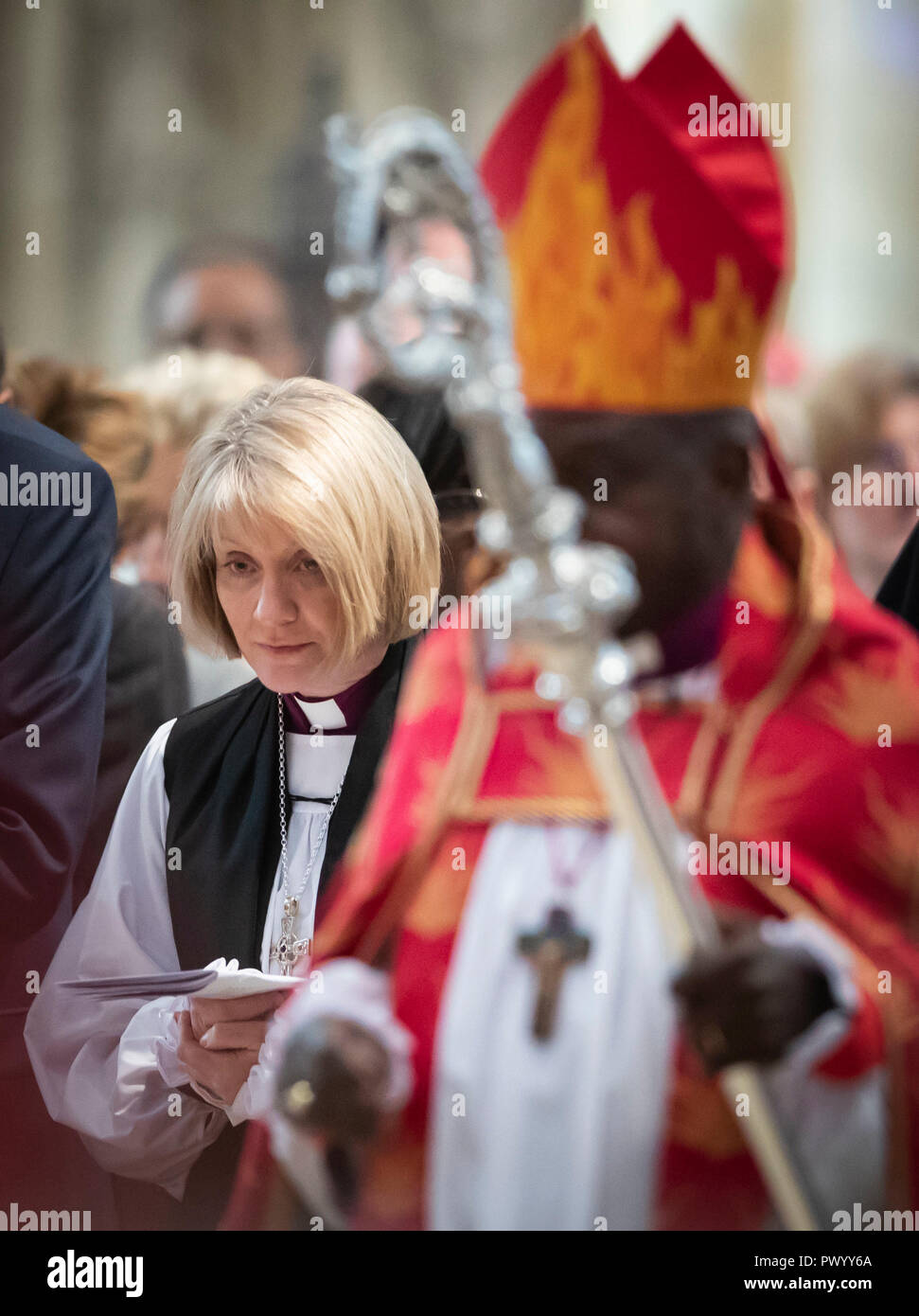 The Venerable Beverley Anne Mason is consecrated as the next Suffragan Bishop of Warrington in the Diocese of Liverpool at York Minster. - Stock Image