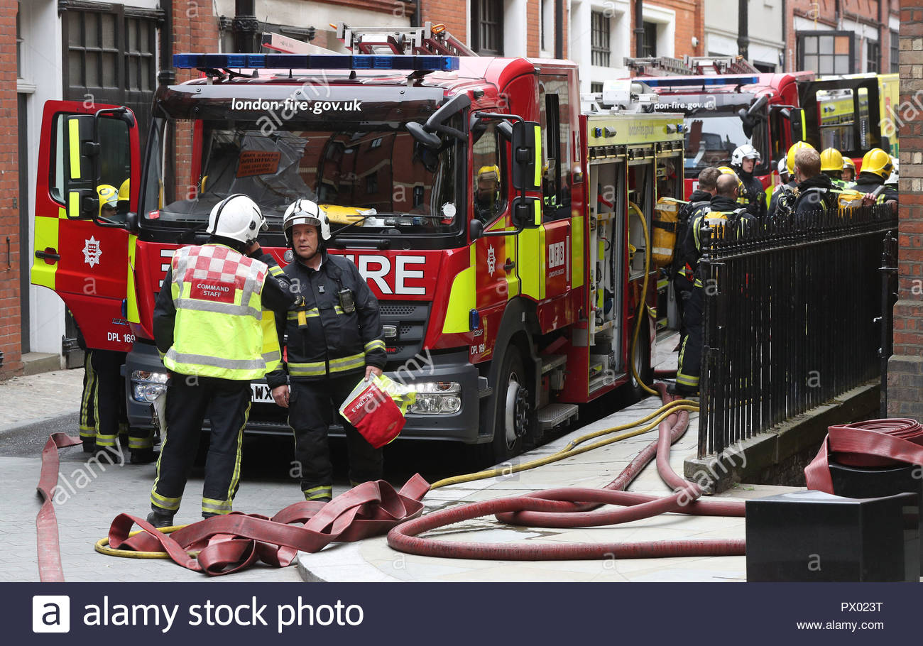 File photo dated 05/06/18 of firefighters in London