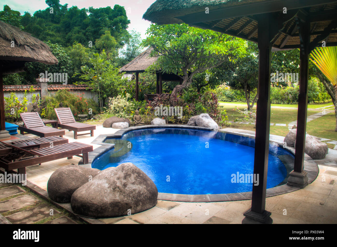 Fancy Hotel Room With Private Swimming Pool In Pemuteran In Bali Indonesia Stock Photo Alamy
