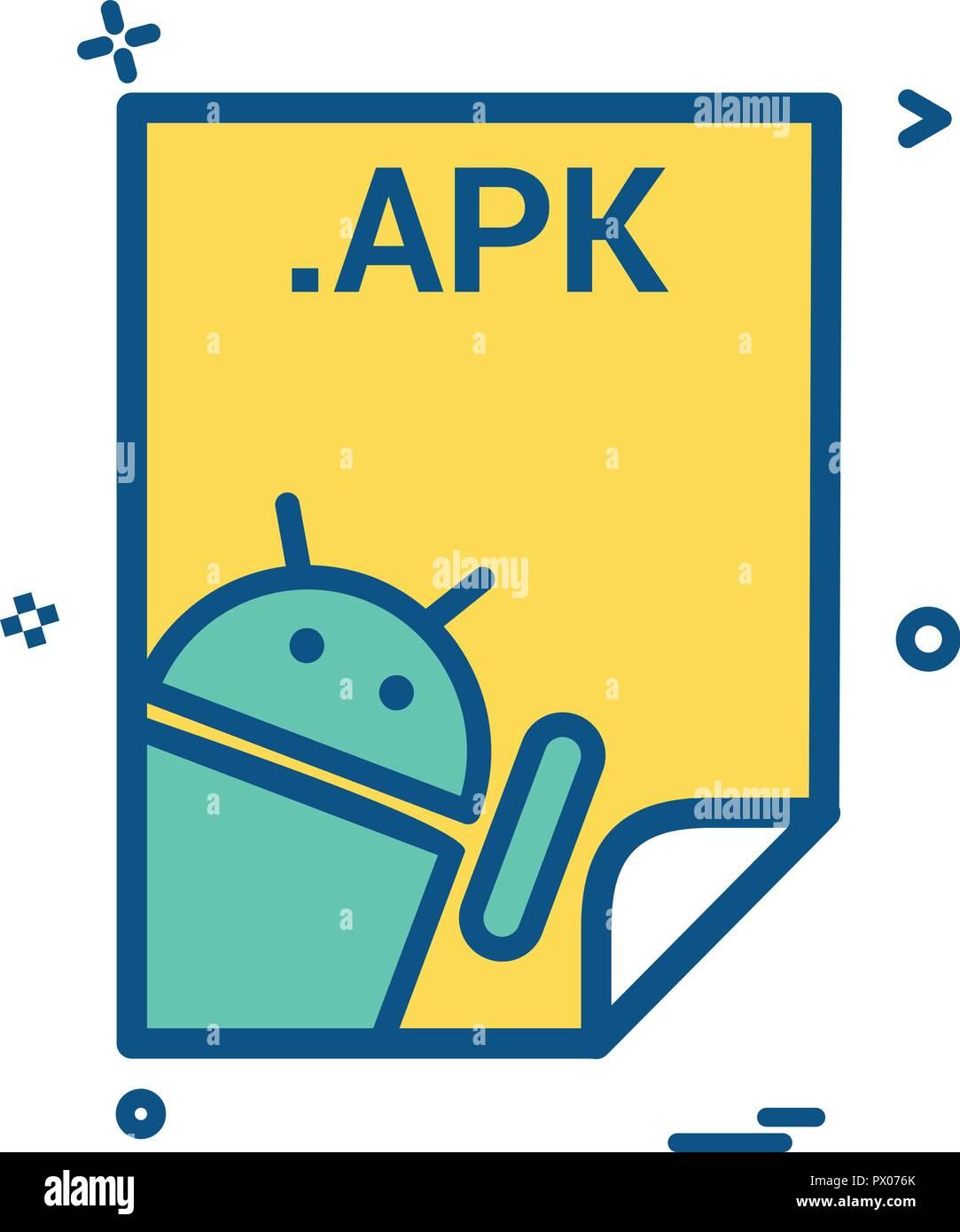 apk application download file files format icon vector design Stock