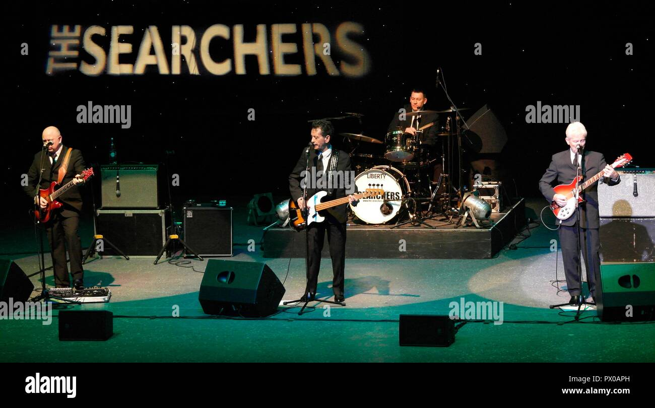 Rhyl, The Searches perform at Rhyl Pavilion on farewell tour credit Ian Fairbrother/Alamy Stock Photos - Stock Image