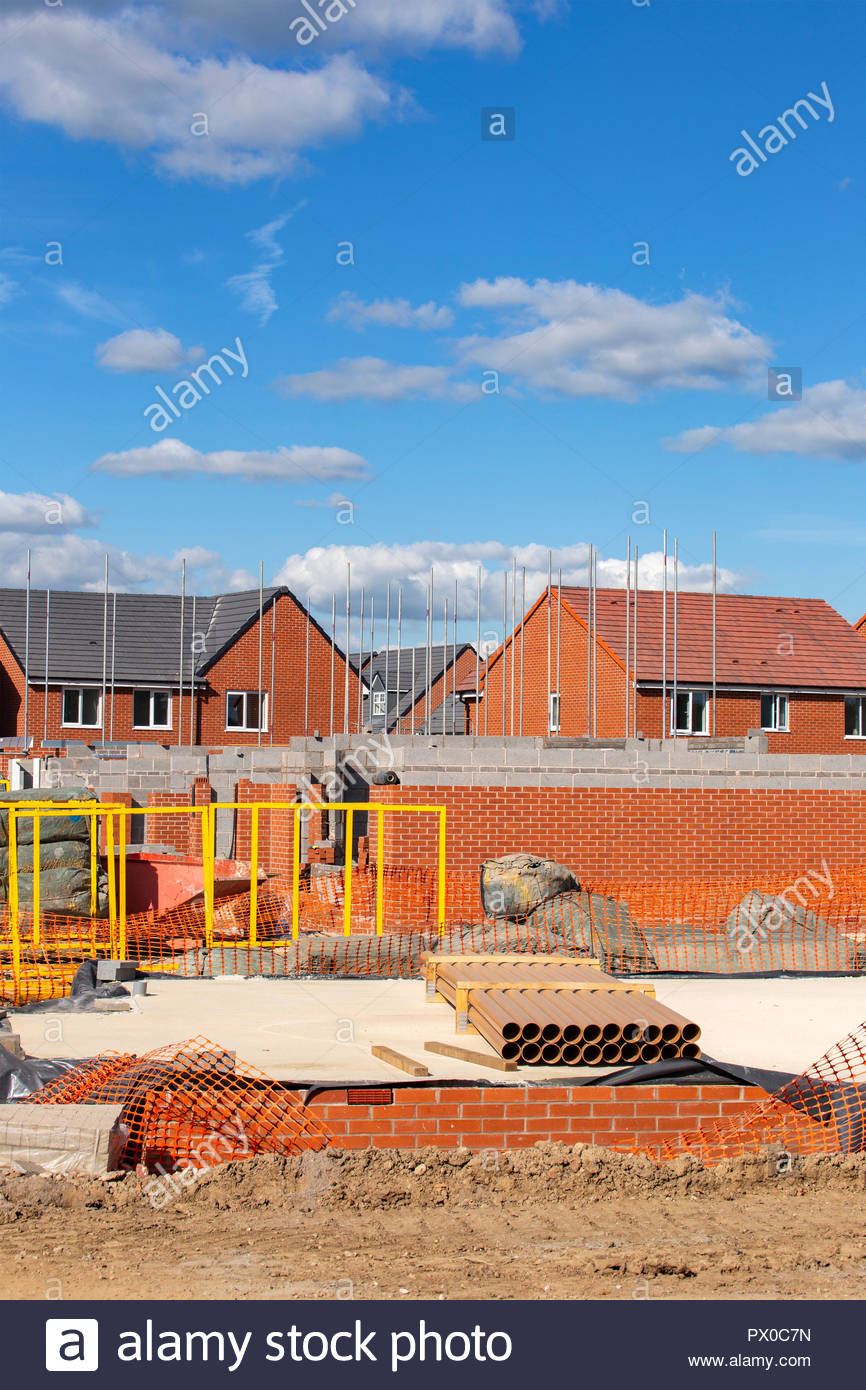 New build homes in Cheshire UK - Stock Image