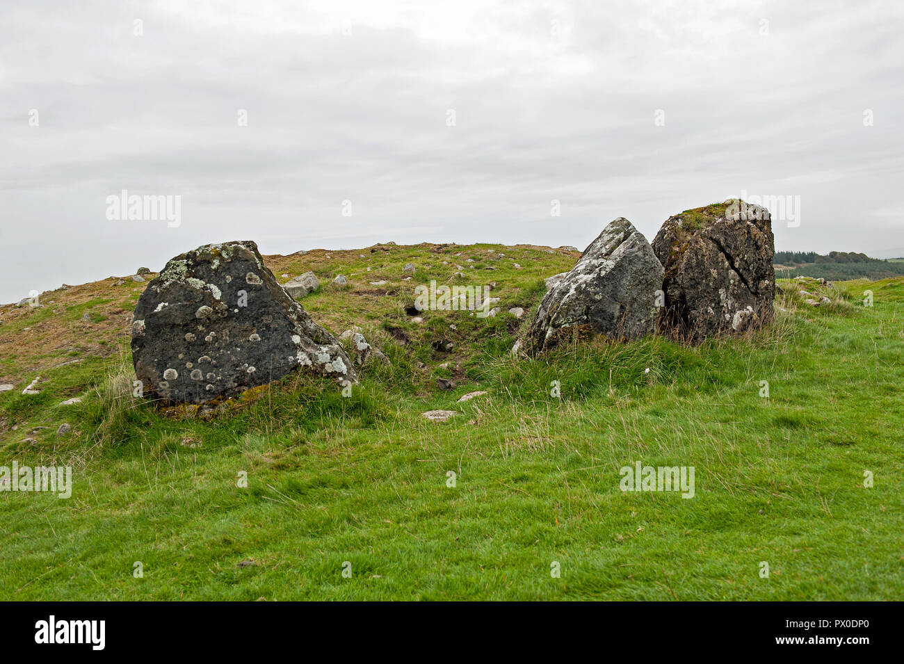 Loughcrew Ancient megalithic Tomb, Co Meath, Ireland Stock Photo