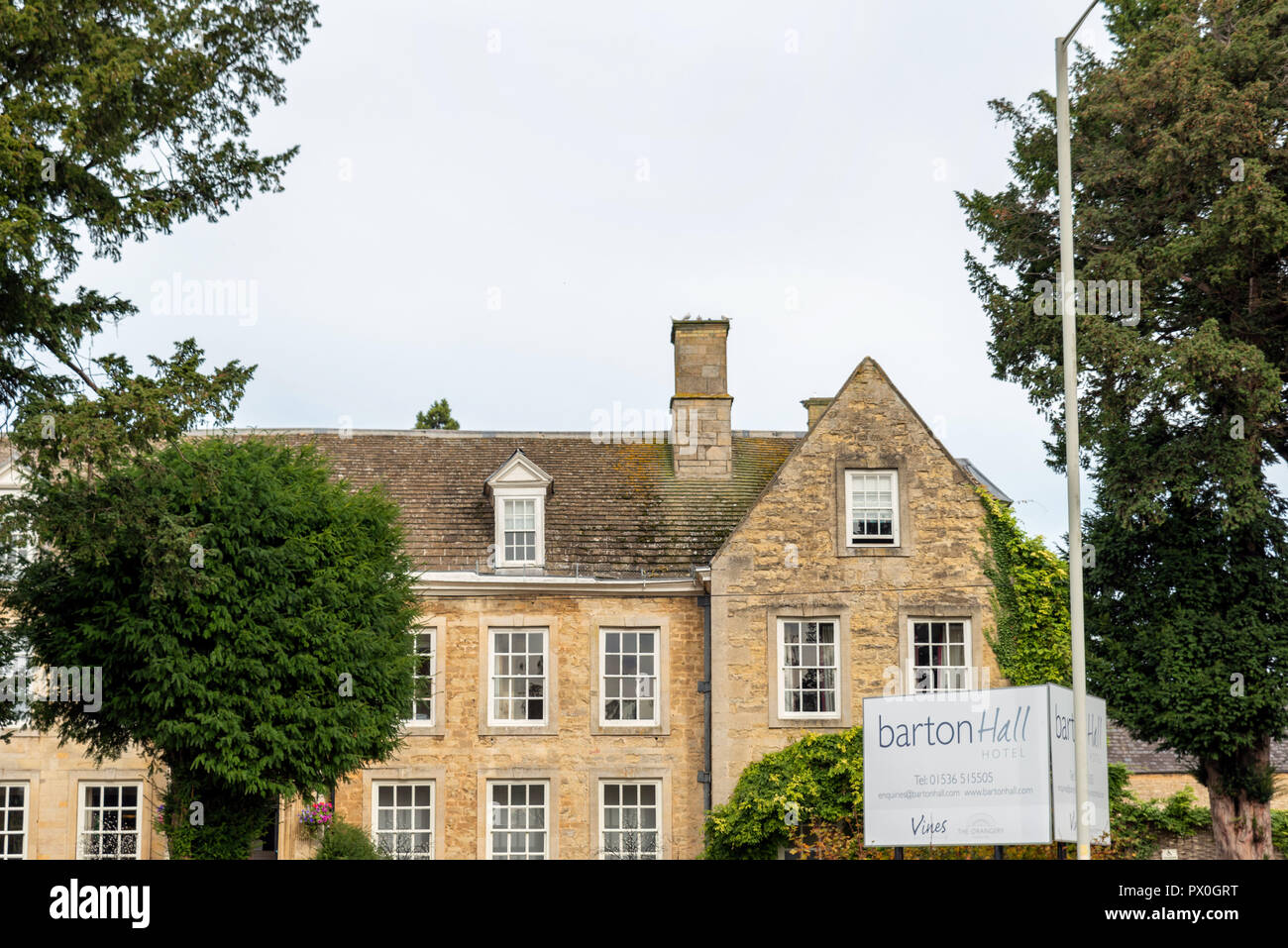 Barton Seagrave, UK - Oct 07 2018: Day view barton seagrave village hall. - Stock Image