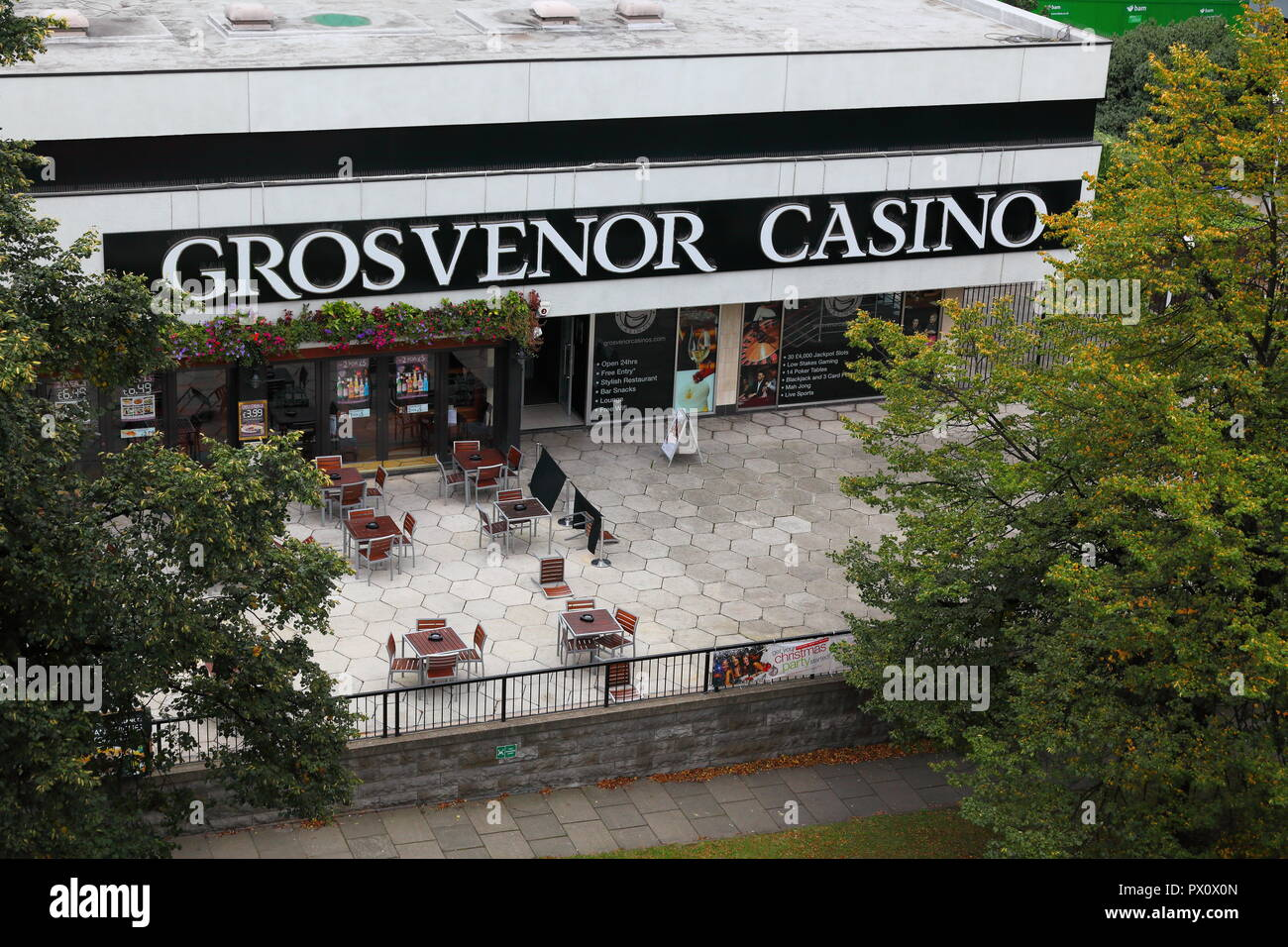 The Grosvenor Casino in Leeds, which has now been demolished to make way for new developments. - Stock Image