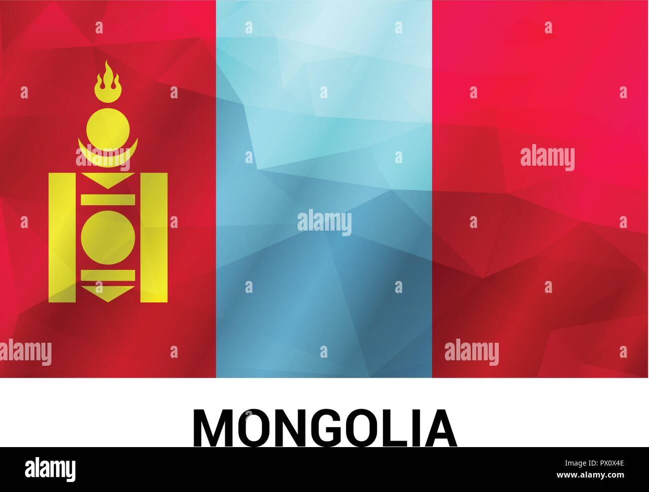 Mongolia flags design vector - Stock Vector